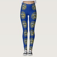 Leggings with flag of Nebraska State, USA