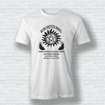 Supernatural Inspired Winchester Bros Witchcraft Sam Dean T shirt men Casual tee USA size S-3XL