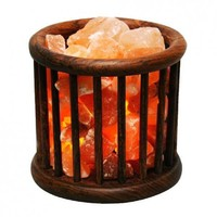 Evolution Salt Crystal Salt Lamp - Wooden Basket - 1 Count