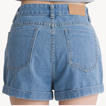 Summer High Waist Shorts Black Blue Color Sexy Shorts Plus Size Women Jeans Casual Loose Denim Shorts High Quality Shorts