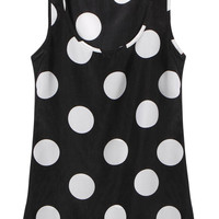Black Polka Dot Vest