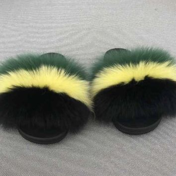 Island fox fur slides