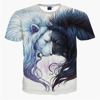 CREYUG7 2016 Newest galaxy space printed creative t shirt 3d men's t shirt summer novelty 3D f
