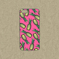 iphone 5c case,iphone 5c cases,iphone 5s case,cool iphone 5c case,iphone 5c cover,cute iphone 5s sleeve--Pink pineapple,in plastic,silicone.