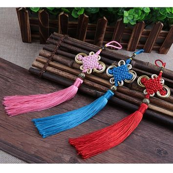 20 Pieces / Lot Small Chinese Knot Tassel Pendant Red China National Wind Hanging Drop Chinese Characteristics Gift for Friends