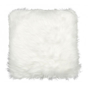 Luxe Belton Faux Fur Throw Pillow | Wayfair