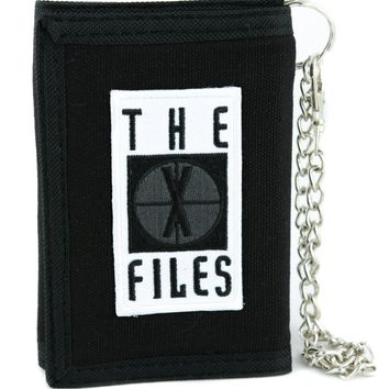 The X-Files TV Show Tri-fold Wallet Alternative Clothing Detective Mulder and Scully
