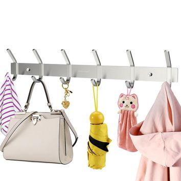 HOMEMAXS Heavy Duty Stainless Steel Wire-drawing, Wall Mounted Hook Rack.