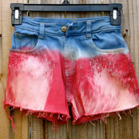 Kids Red and Blue Independence Day Shorts