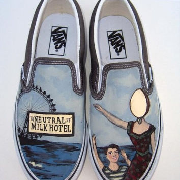 Neutral Milk Hotel Hand Painted Custom Vans Shoes