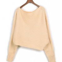 *Free Shipping*Beige Women One Size Sweater MF9157 from MaxNina