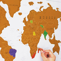 scratch off world map by thelittleboysroom | notonthehighstreet.com