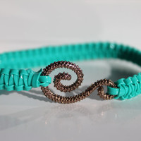 Aqua bangle bracelet by bumbleberries2012 on Etsy