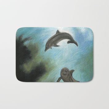 Dolphins Bath Mat by Savousepate
