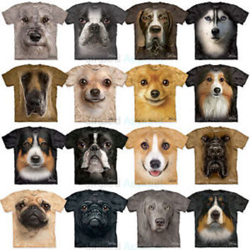 The Mountain Dog Face T-Shirt S-3XL Pug Husky Corgi Sheltie Schnauzer Chihuahua