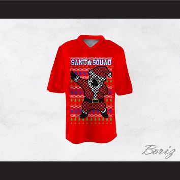 Santa Squad Football Jersey Design 1