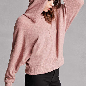 Hooded Fleece Dolman Top