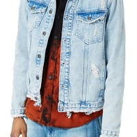 Topman Distressed Denim Jacket | Nordstrom