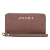 MICHAEL Michael Kors Saffiano Leather Tech Wristlet | Nordstrom
