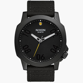 Nixon Ranger 45 Nylon Watch Black One Size For Men 25964210001