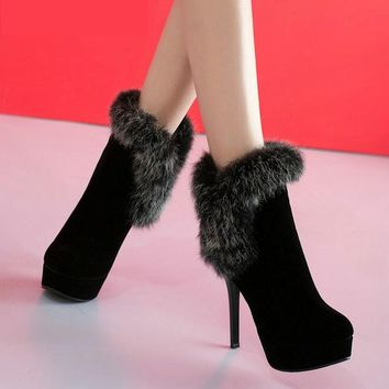Think High Heel Ankle Boots | Women's Platform Shoes