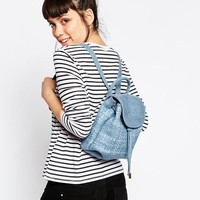 ASOS | ASOS Denim Woven Mini Backpack at ASOS