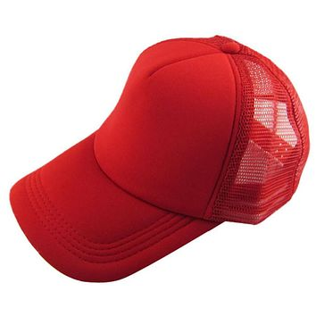 Top sale women men baseball cap 12 candy color back Mesh Blank Visor Hat Adjustable Unisex Casual Hat best quality gorros #58