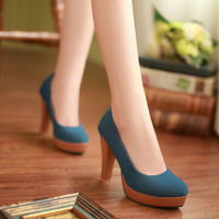 Women Platform Pumps High Heels Dress Shoes Woman
