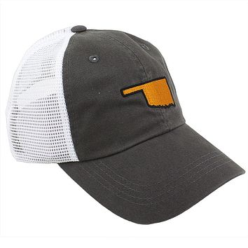 Oklahoma Stillwater Gameday Trucker Hat in Grey by State Traditions