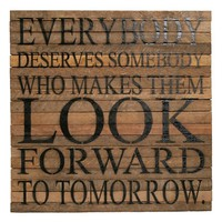 Second Nature by Hand 'Look Forward' Wall Art