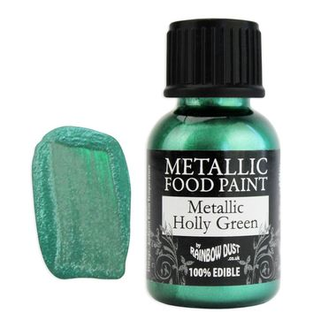 Holly Green Metallic Edible Paint RD