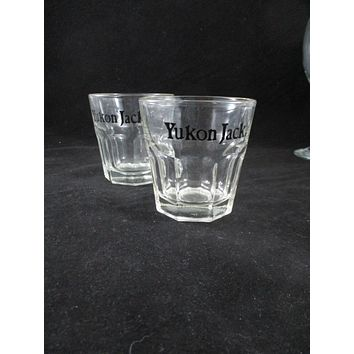 Yukon Jack Whiskey Glasses