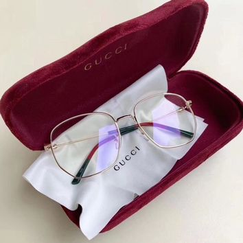 """Gucci"" Unisex Fashion Temperament Retro Anti-Blue Glasses Couple Collocation Accessories"