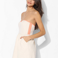 Sparkle & Fade Geo Quilted Strapless Dress - Urban Outfitters