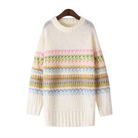 Multi Loose Knitted Sweater