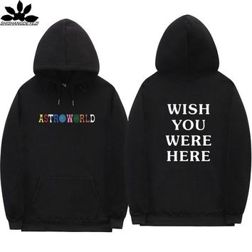 Travis Scott Astroworld WISH YOU WERE HERE hoodies fashion letter print Hoodie streetwear Man and woman Pullover Sweatshirt