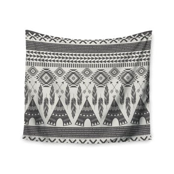 "Amanda Lane ""Native Roots"" Brown Gray Wall Tapestry"