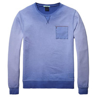 Blue Fade Pocket Sweater