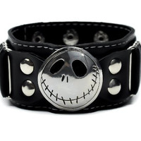 Jack Skellington Nightmare Before Christmas Wristband Halloween Metal