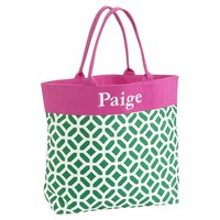 Beach Tote, Green Peyton