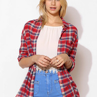 BDG Crimp Gauze Button-Down Tunic - Urban Outfitters