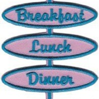 Novelty Iron on - 50's Restaurant Sign Patch