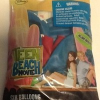 "Pioneer National Latex Teen Beach Movie 12"" Latex Balloons, 6 Count"