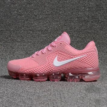 Nike Air VaporMax Trending Woman Men Personality Sneakers Sport Running Shoes Pink I