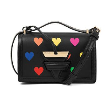 Loewe Small Barcelona Bag with Multicolor Hearts - ShopBAZAAR