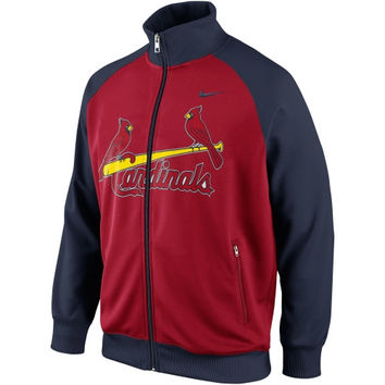 Nike St. Louis Cardinals 2014 Full Zip Track Jacket - Navy Blue/Red