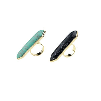 Shiny Gift Stylish New Arrival Jewelry Ladies Strong Character Fashion Turquoise Ring [4956882116]