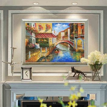 Cityscape painting Oil Paintings on canvas art original painting Venice italy art Wall pictures home decor hand painted cuadros abstractos