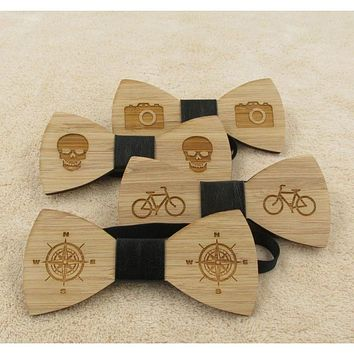 Men's Party Collection #3 Wooden Bow Ties - 4 Styles