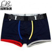 Hot quality new cheap mans brands jockstrap Mr fashion sexy gay underwear penis men's boxer shorts cotton male panties large fat